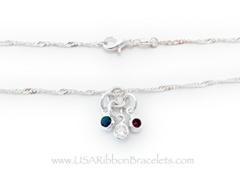 Red White and Blue Charm Necklace