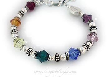 Rainbow Bridge Bracelet with an in memory Bead www.DesignsByLeigha.com