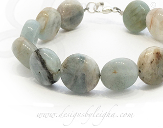 Aquarmarine or March Birthstone Bracelet