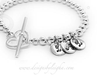 Monogram or Initial Charm Bracelet for Mommy