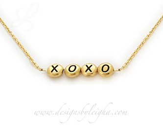 XOXO Necklace - Hugs and Kissess Valentines Day Necklace from www.DesignsByLeigha.com