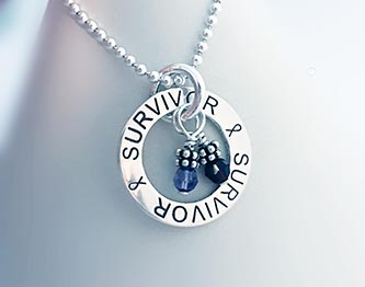 Cancer Survivor Necklace www.CancerBraceletsBreast.com
